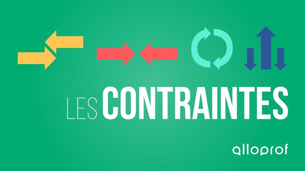 Image : Contraintes